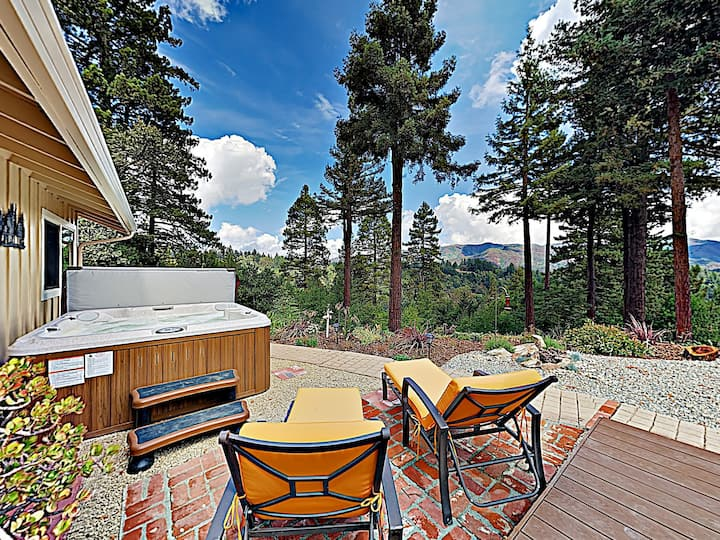 New Listing! Redwood Enchantment w/Hot Tub & Views