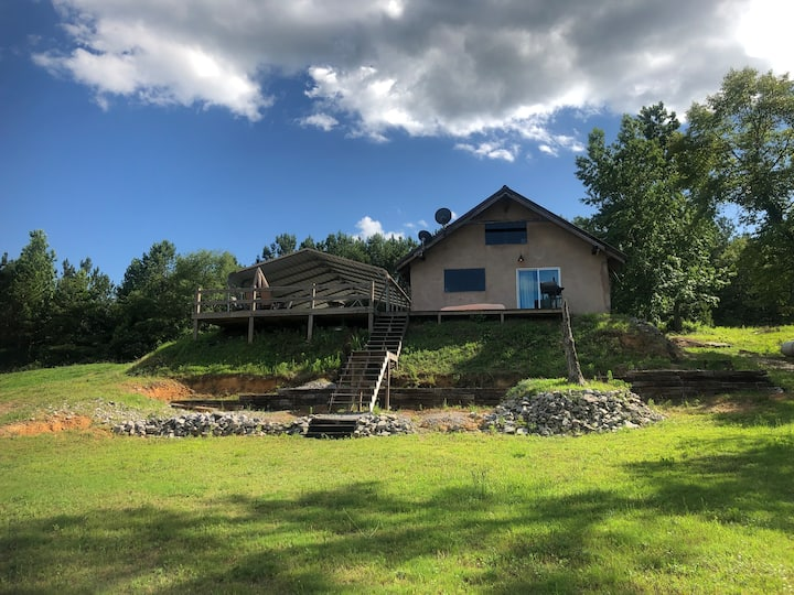 The Straw Bale Cabin on Smith Lake