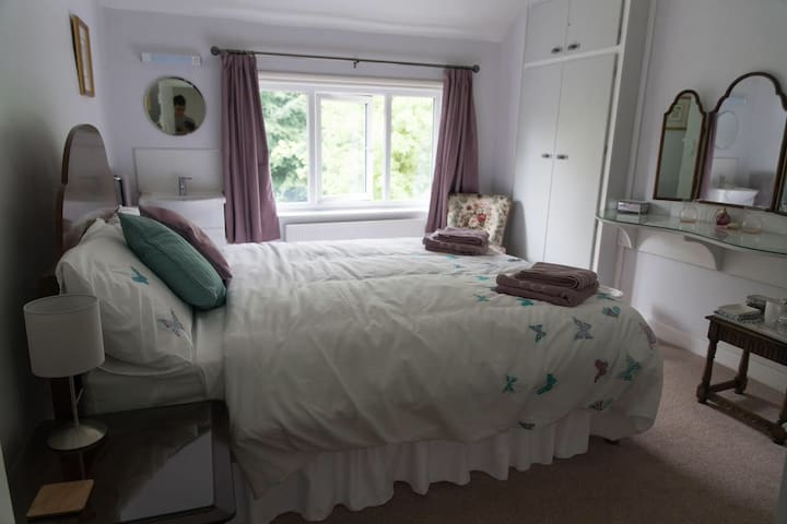Restful room. One of three rooms available