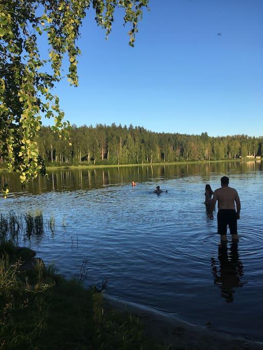 Badplats / swimming area