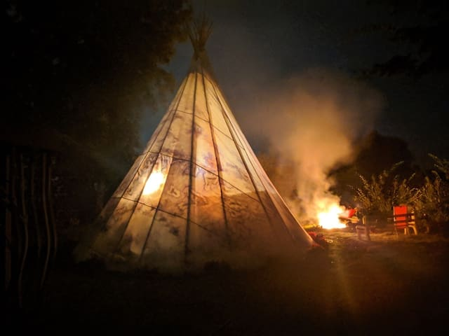 Being Bliss Redneck Glamping GoodVibe Tipi Tribe