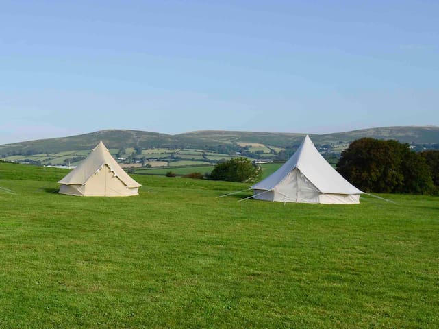 EXCLUSIVE USE CAMPSITE + 2 x Bell Tents for 6 ppl