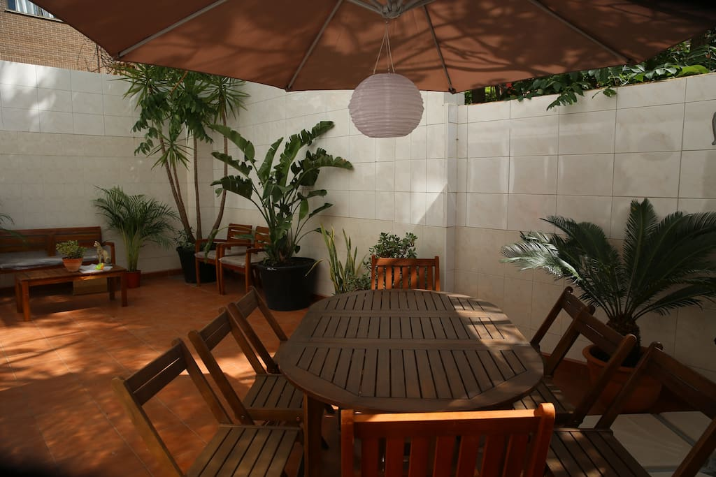 Lounge area at the private terrace