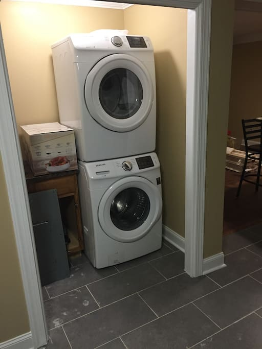 Large capacity Front Load washer and dryer