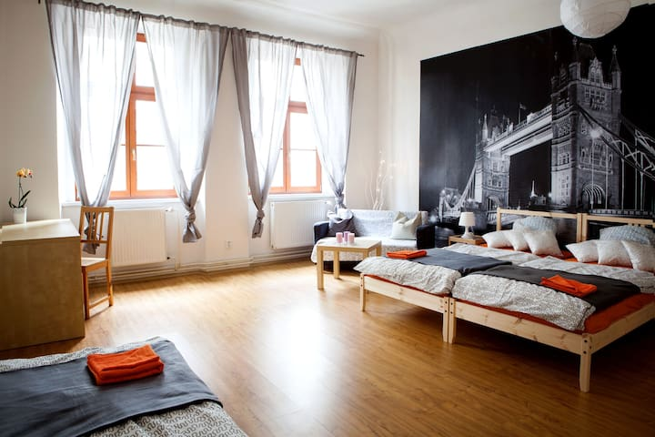 Stylish room inspired by London in the city centre - Brno - Apartamento