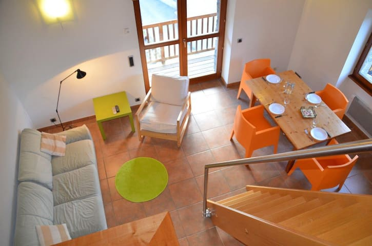 4 persons 50sqm apartment with 1 bedroom with a 10sqm mezzanine - Center of the village
