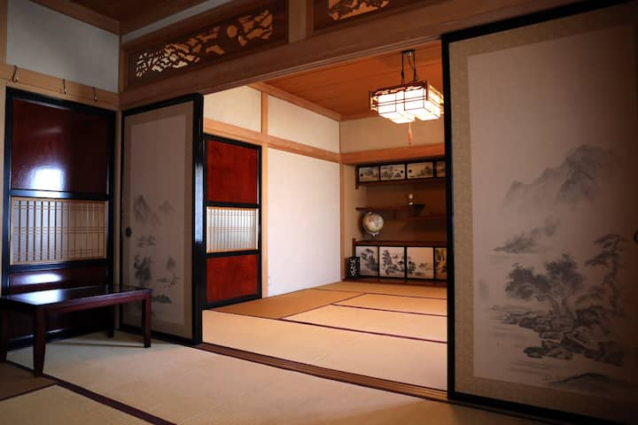 Ryokan-style rooms in a large house