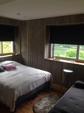 Chambre Cosy vue sur le lac - Les Rotours - Bed & Breakfast