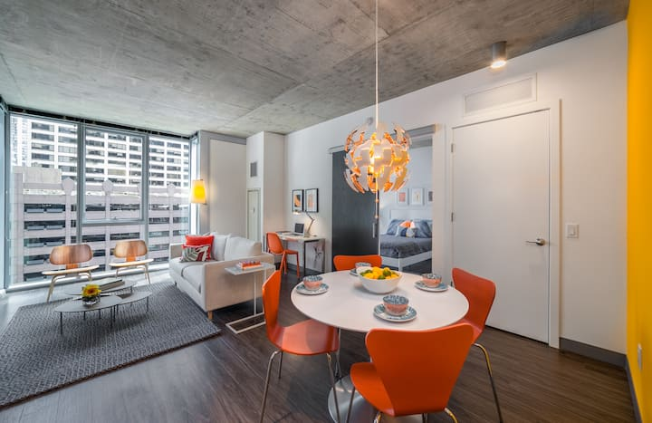 Modern 1 bedroom w/ luxury amenities in the Loop