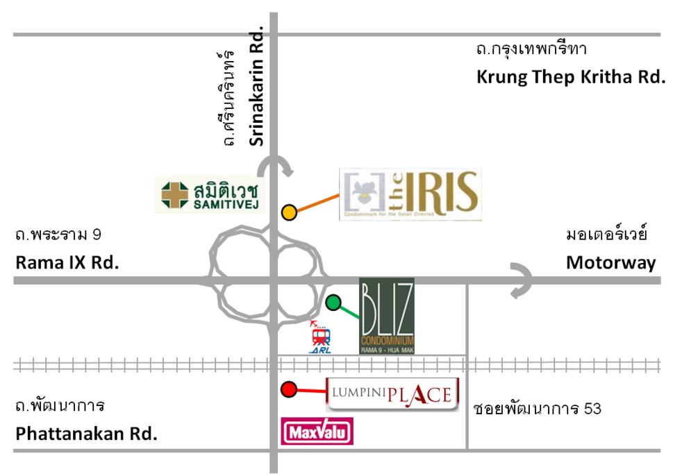 This map can be useful to tell taxi when coming to the IRIS condominium.