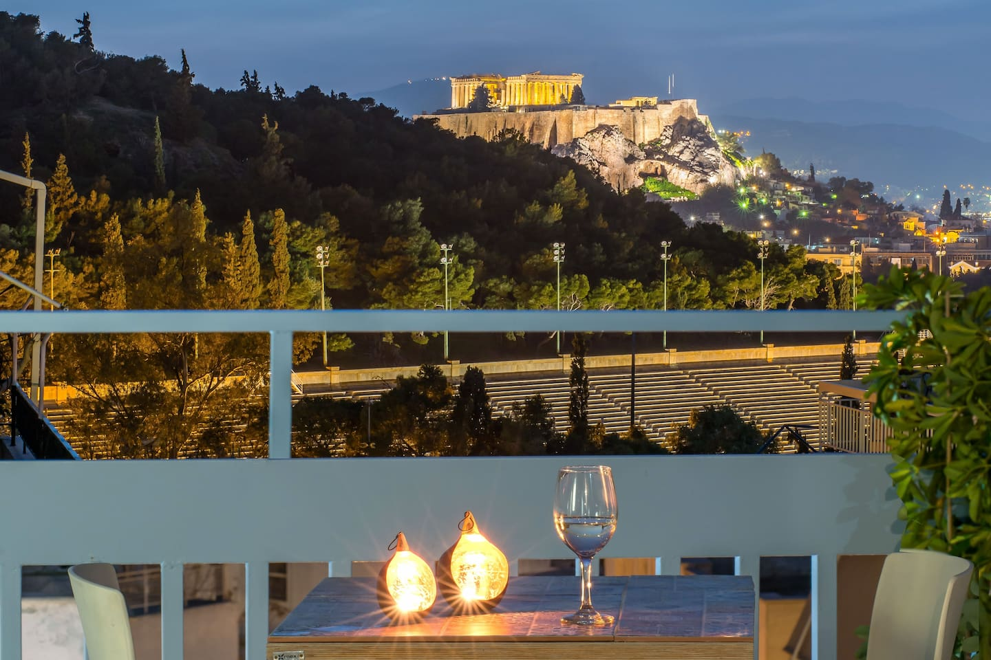 View from the balcony and from inside - bed you can see the Acropolis during your sleep