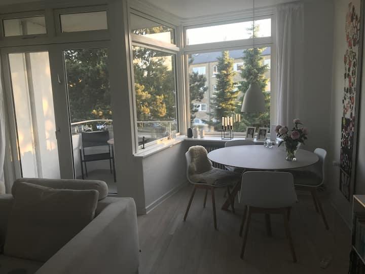 Modern bright apartment w/ balcony