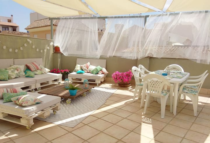 Double room beach-mountain near Valencia