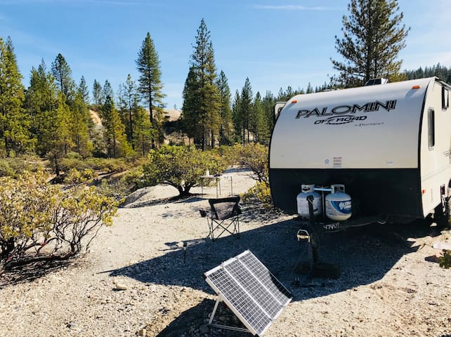 Camper on 1400 private acres in State Forest