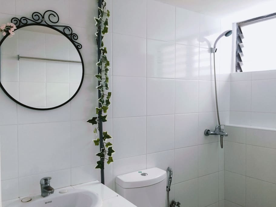 Newly renovated common bathroom 1
