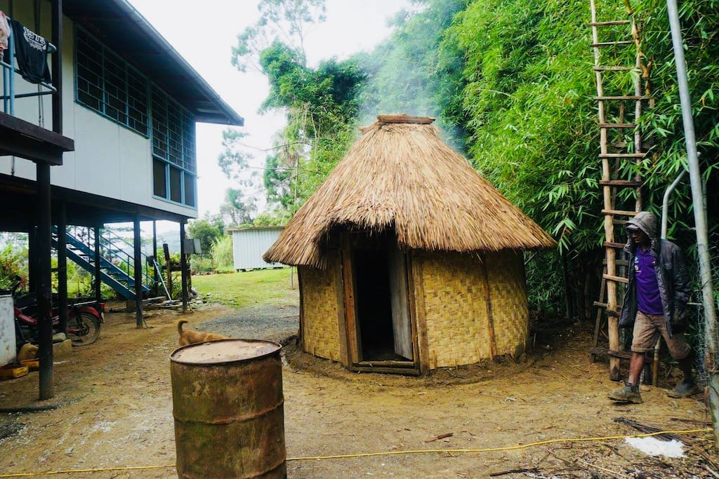 Traditional kitchen hut