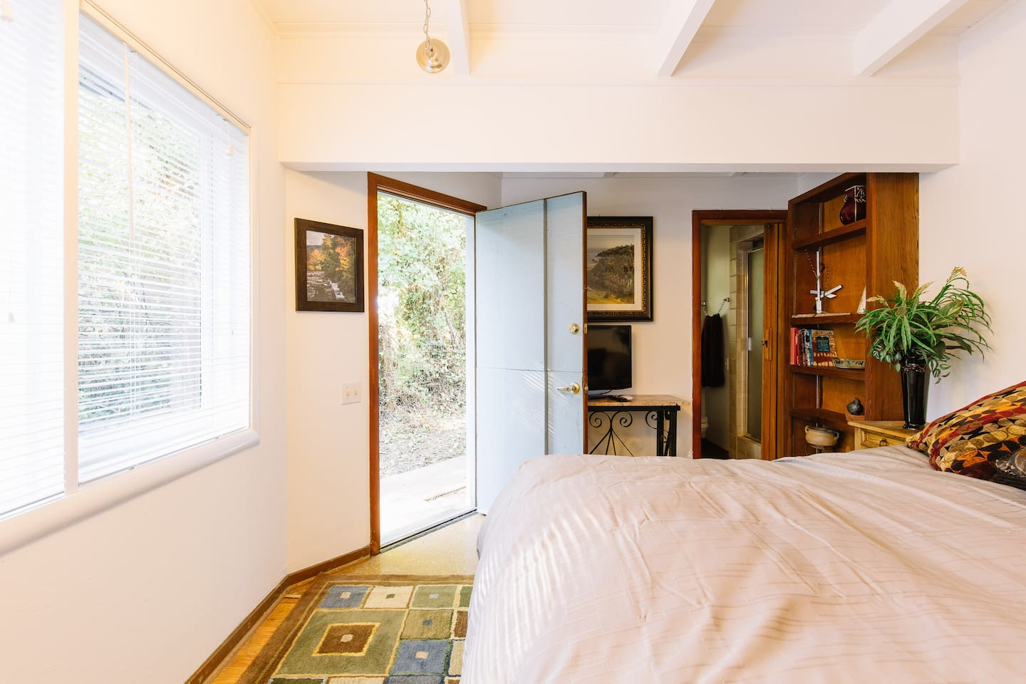 Picture inside Forest room. Private entrance door for easy access!