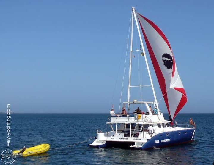 Porquerolles  grand Catamaran belle emplacement