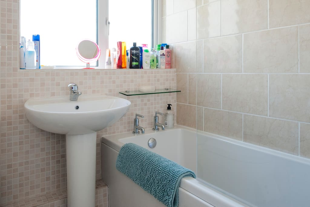 Small but convenient bathroom