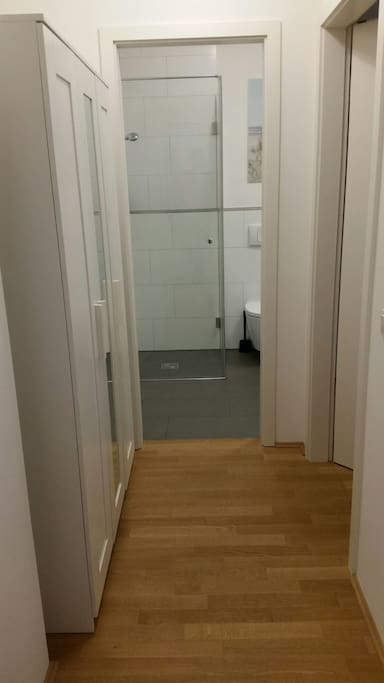 Your private Bathroom and door to your private Bedroom