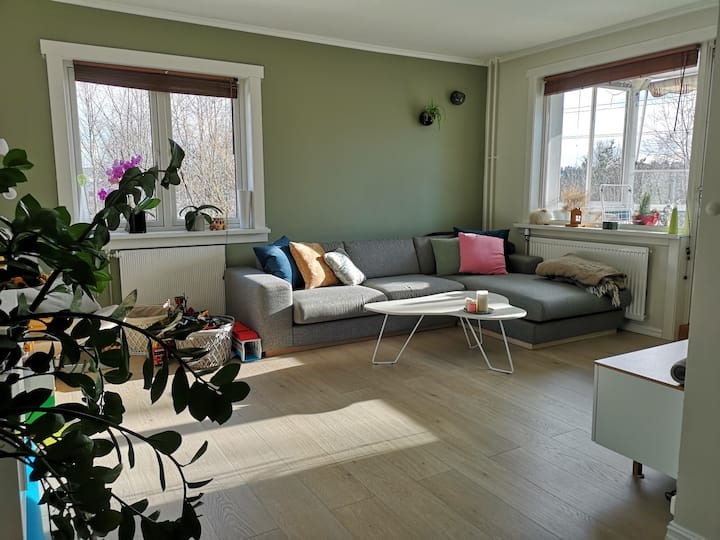 Stylish apartment in quite place 12 min to OSLO S