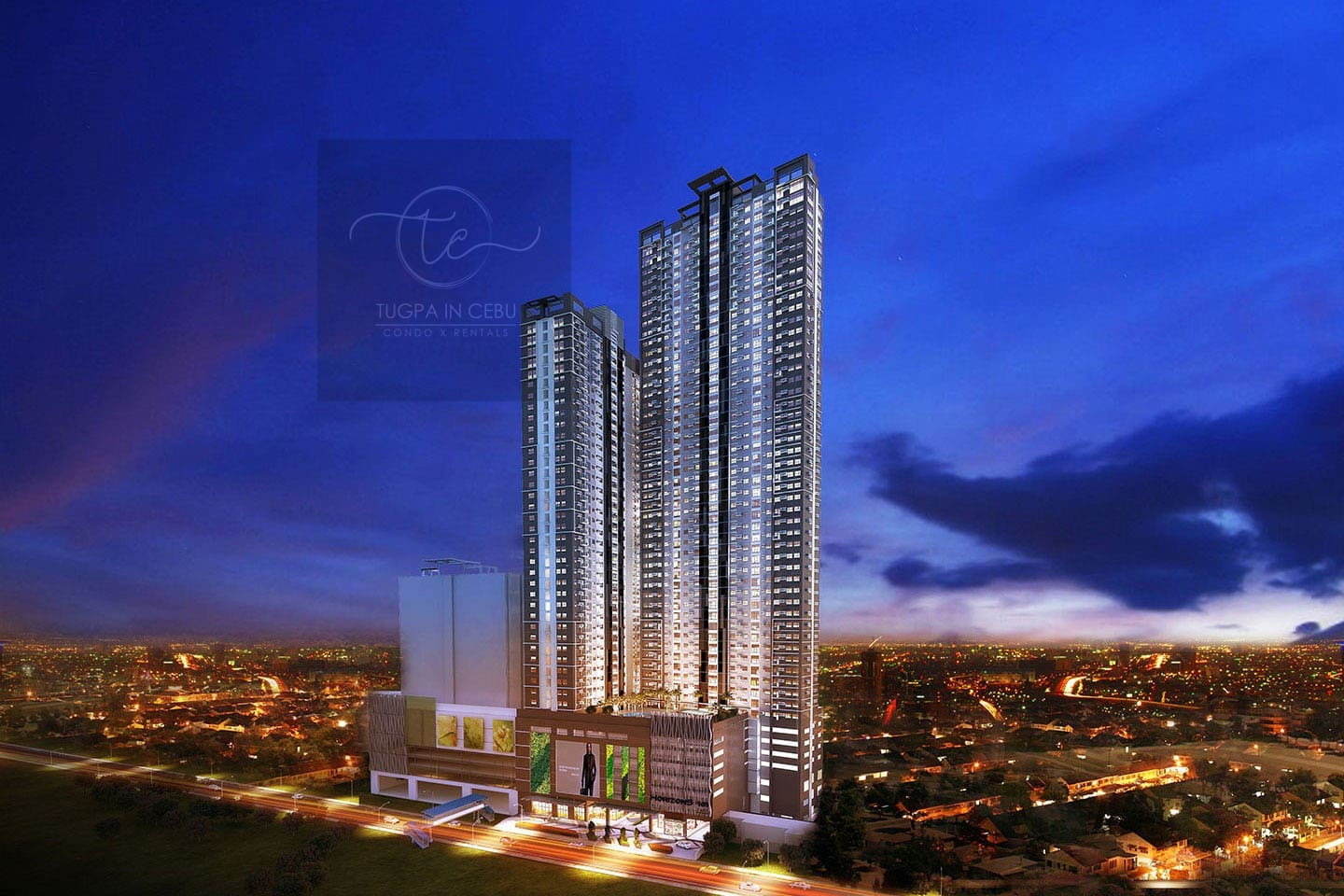 Artist's render of the two towers of Horizons 101 Condominium -- Cebu's tallest structure!