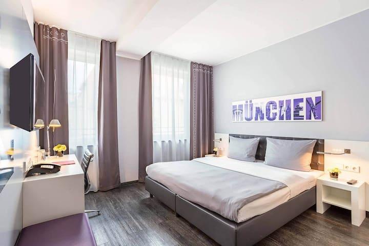 Zentral wohnen in München, Doppelzimmer Nr. 2