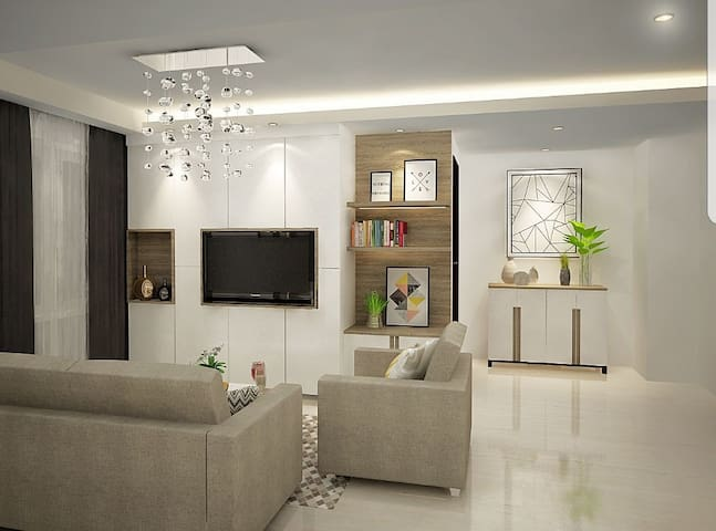 Comfy 3+1 Bedrooms Apartment in Kemayoran