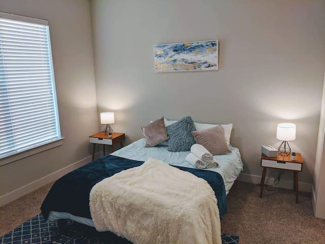 We feature queen size green tea memory foam mattress' in all our properties.
