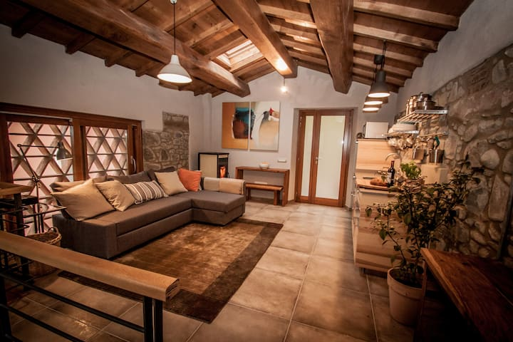 Newly Renovated Tuscan Barn on Trout River Barga