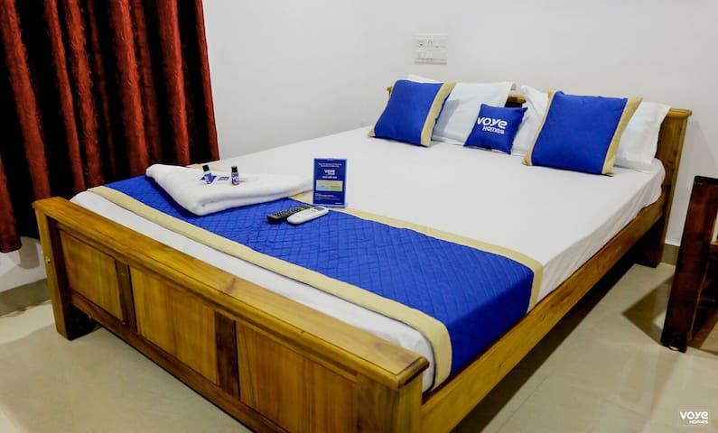 Bedroom at Munroe island backwaters Homestay