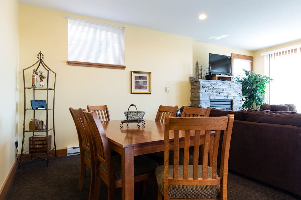 The main living area is an open concept with the kitchen, dining room and living room.