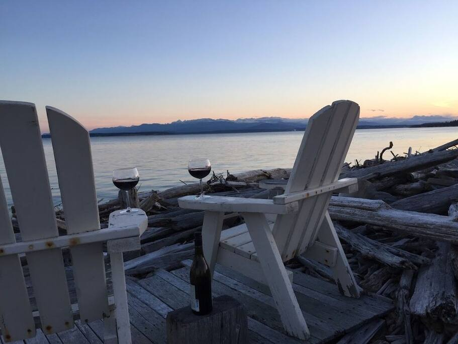 Imagine yourself here enjoying views of Admiralty Bay and the Olympic Mountains!