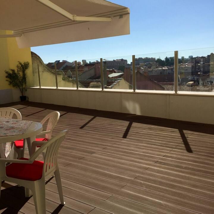 Ap36 - Charming 3 ensuites flat with large terrace