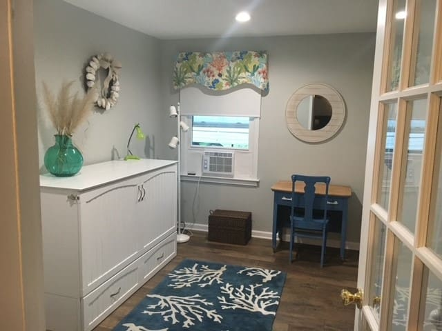 Bonus or 4th bedroom has queen murphy bed that folds out with comfortable memory foam
