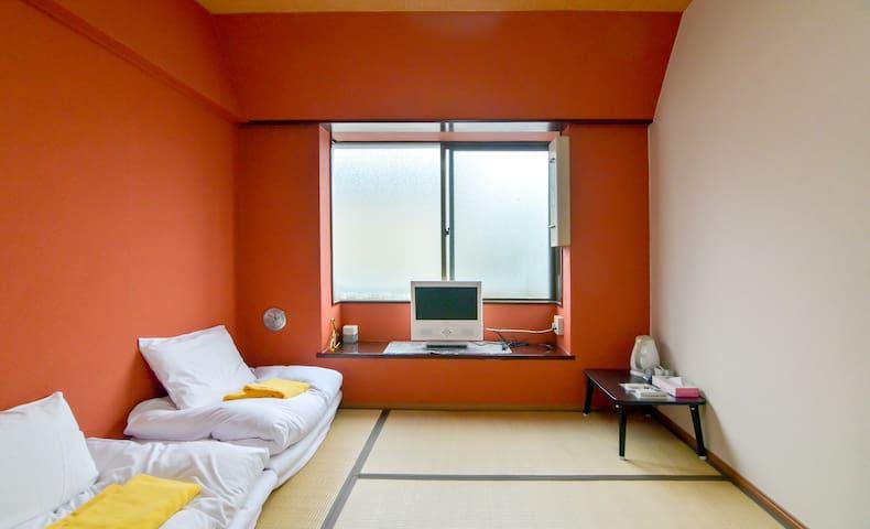 신주쿠 일본스타일 다다미방/휴대용WIFI제공,교통편리,오오쿠보역 도보2분