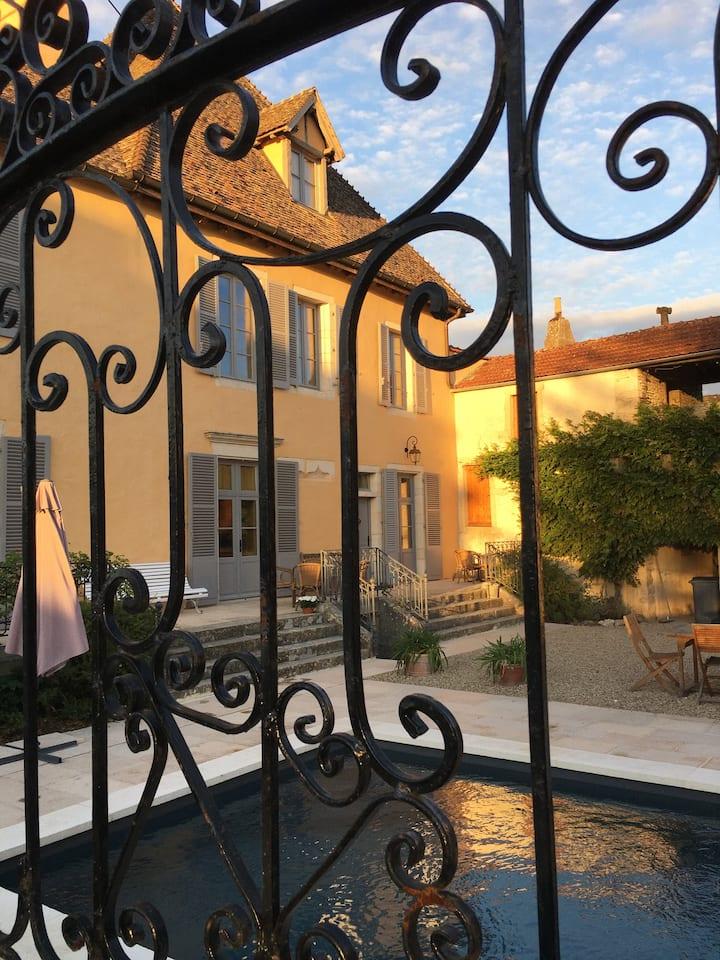 Restored private chateau in Burgundy