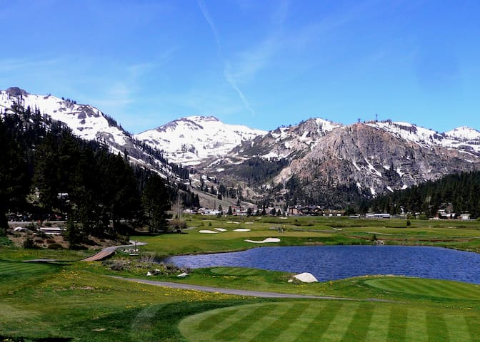 Olympic Valley, 15 minutes down 89. Enjoy golf or stroll through the Village at Squaw!