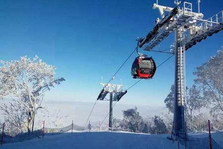 吉林万科松花湖滑雪场青山公寓,临近索道10米 - 吉林