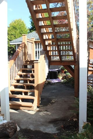 Stairs leading to the loft - Please be aware of them, as they may not be suitable for those with mobility issues.