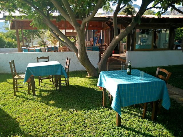 Enjoy your meal/dinner/coffee at our tavern's garden