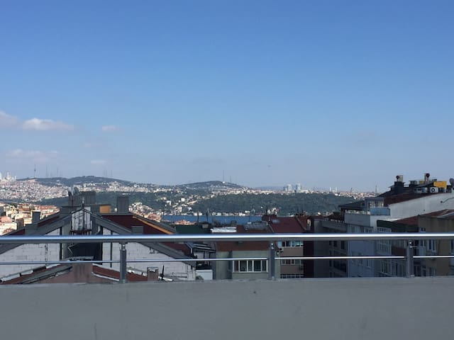 Penthouse Apartment with Bosphorus view - Şişli - Loft