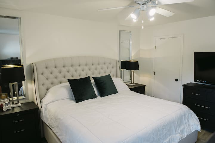 Master Bedroom / king bed and attached full bathroom