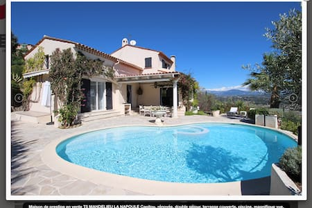 Villa with stunning view over the Bay of Cannes!! - Mandelieu-La Napoule