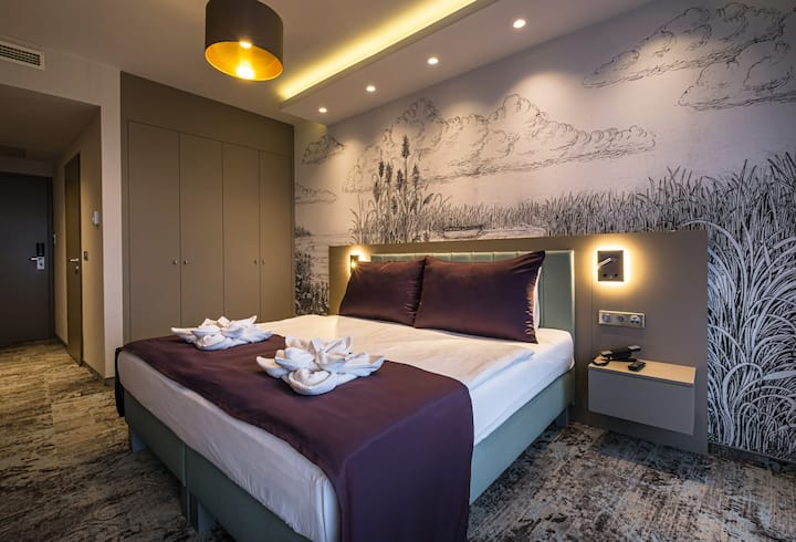 Premium erkélyes, szállodai szoba Balatonfüreden