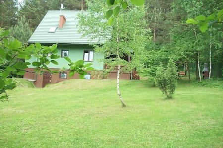 Zielony domek na Roztoczu