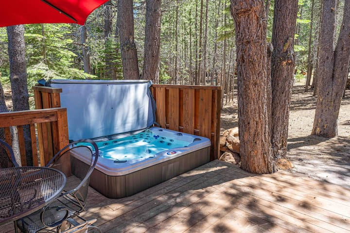 Unwind in the hot tub after a day of Tahoe Donner fun.
