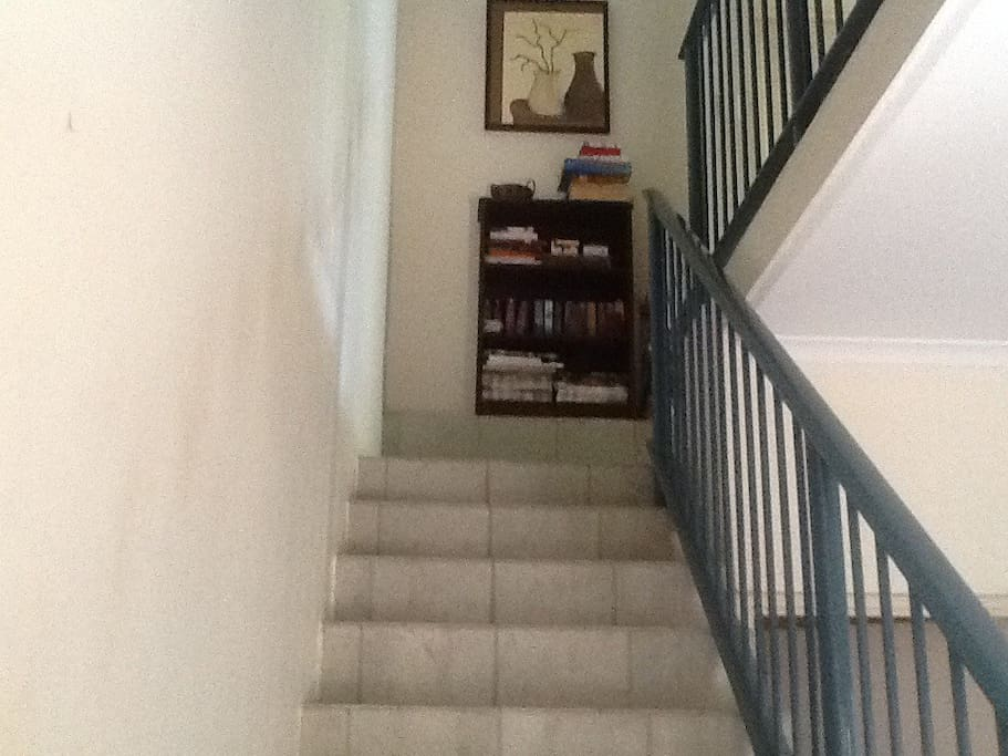 Upstairs to bedroom.