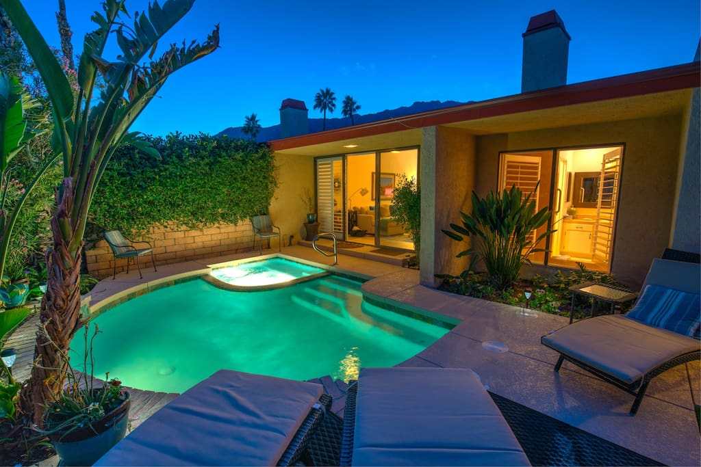 New Photo 2018:  Beautifully renovated pool, spa, patio decks and gardens exemplify the owners' serious pride of  in this popular villa.
