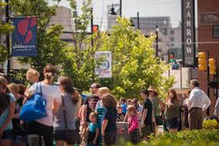 Brady Arts District.  If you are lucky enough to hit Tulsa on the first Friday of the month, you have to check out First Friday in the Brady Arts District.  Lots of free music, art galleries and free entry into all the museums after 6:00